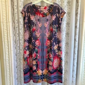 "JOHNNY WAS * NWOT ""Asbrie"" Shift Dress"